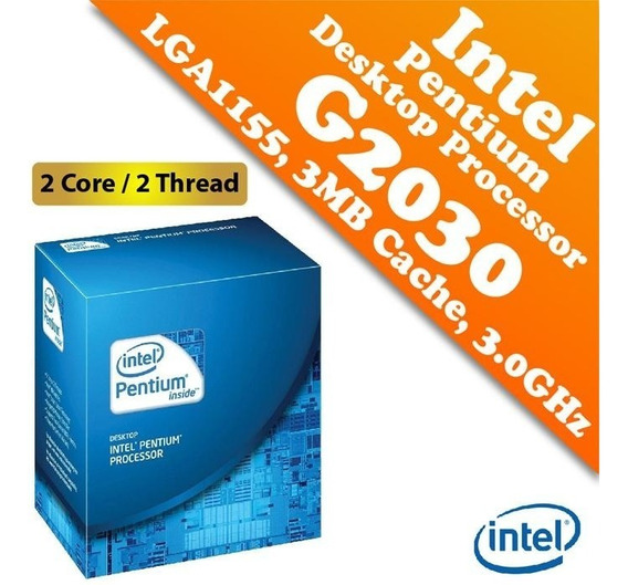 Processador Intel Lga 1155 Pentium G2030 3mb Cache 3.00 Ghz