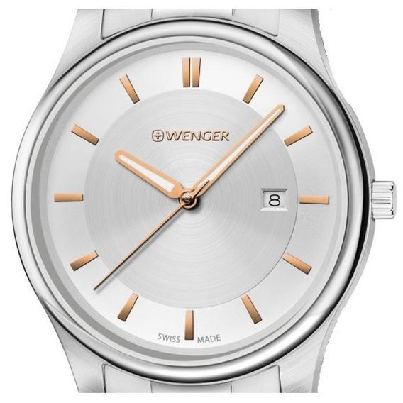 Relógio Wenger City Classic Aço 01.1441.105 C/ N F