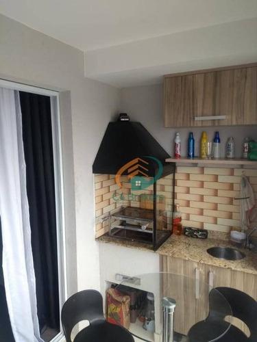 Apartamento Com 2 Dormitórios À Venda, 59 M² Por R$ 374.900,00 - Bosque Maia - Guarulhos/sp - Ap1255