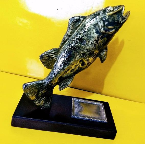 Troféu De Pesca Tucunaré Pescaria Premio Campeonato Aluminio
