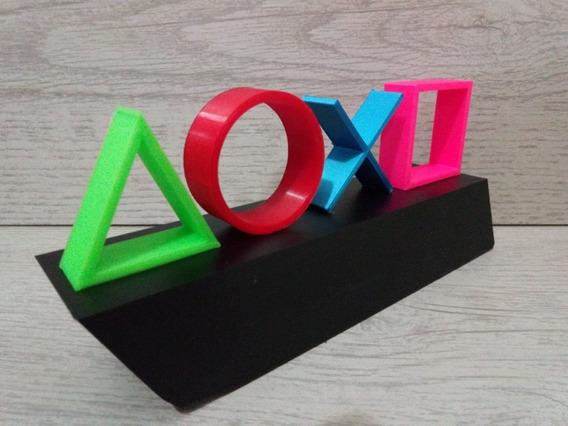 Logo Playstation Ps1, Ps2, Ps3, Ps4 Impresso 3d