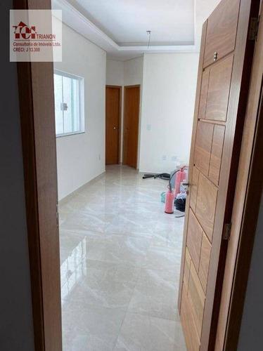 Cobertura Com 2 Dormitórios À Venda, 82 M² Por R$ 369.990,00 - Vila São Pedro - Santo André/sp - Co0660