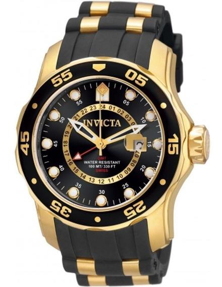 Relógio Invicta Pro Diver 6991 Original Banhado Ouro Eua
