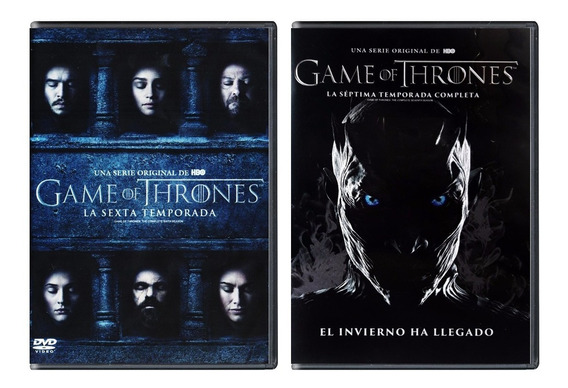Game Of Thrones Juego Tronos Paquete Temporada 6 Y 7 Dvd