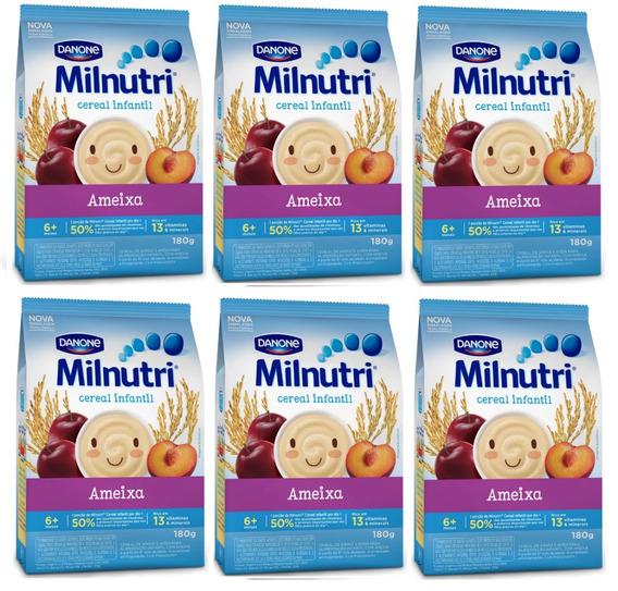 Kit 6 Cereal Milnutri Arroz, Aveia E Ameixa - 180g Cada