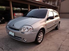 Renault Clio Rt 1.0 16v 2003 Prata Baixa Km Completo 4 Porta