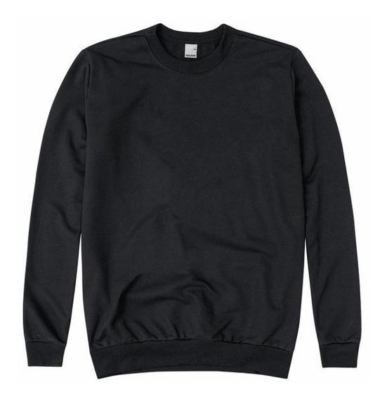 Blusa Blusão Moletom Básico Sem Capuz Flanelada Unissex