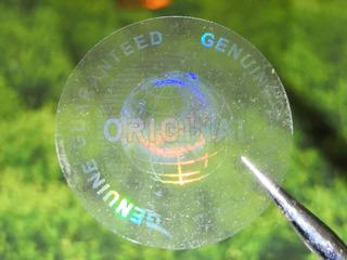 500 Hologramas Transparentes Original De 2cm Daño Al Despega