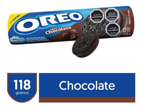 Imagen 1 de 3 de Galletas Rellenas Oreo® Sabor Chocolate 118g