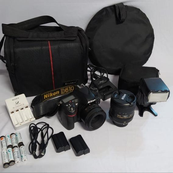 Câmera Nikon D610 + Lentes + Flash + Acessórios