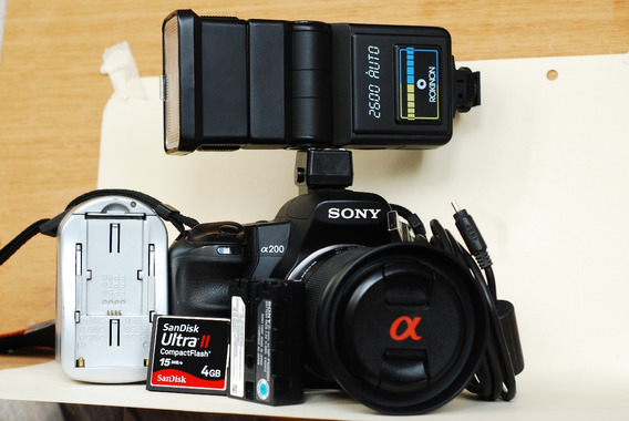 Camara Digital Sony Alpha A200 - Full Equipo .160 Verdes
