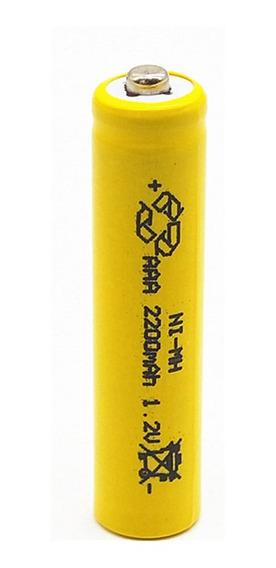 Pilha Recarregávei Aaa 2200ah 1,2v Kit C/2 Unidades