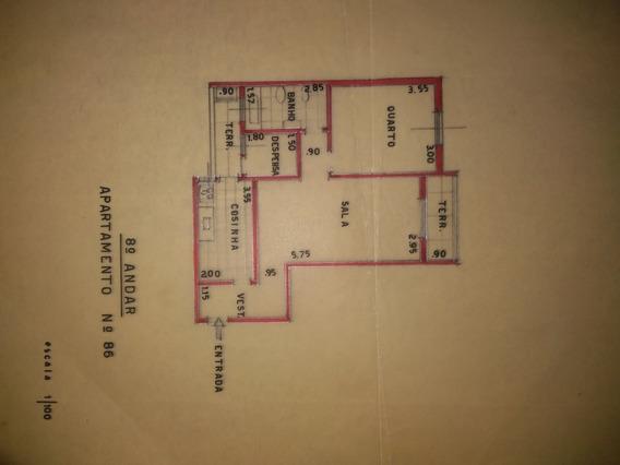 Apartamento 1 Dormitório Com Área De Serviço