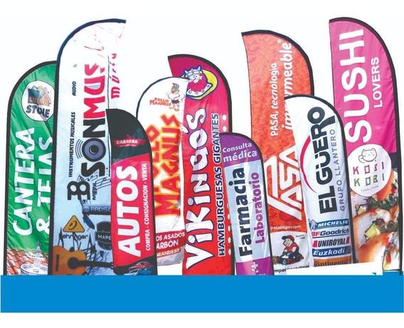 Banderas Publicitarias 4 Mts Kit Completo Personalizada