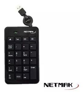 Teclado Numerico Usb Netmak Kb240 23 Teclas Cable Retráctil