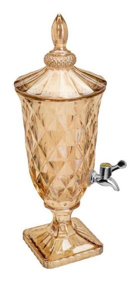 Dispenser Suqueira De Cristal Ecológico Âmbar Diamond 2l
