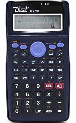 Calculadora Cientifica Sci7900 Spiral Digit Bateria E Solar