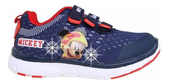 Zapatillas Disney Mickey Addnice Tejida Flex Luz Mundomanias
