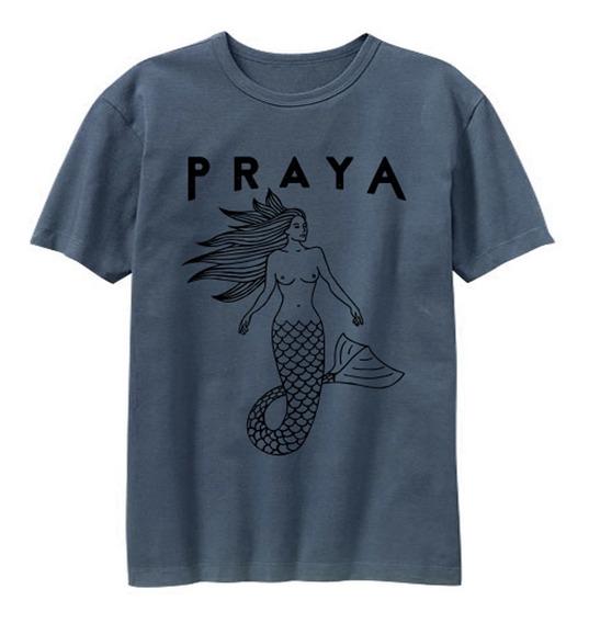 Camiseta Azul Sereya Preta
