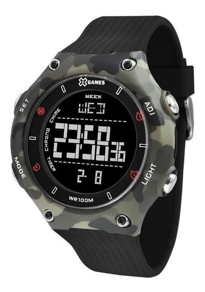 Relógio X Games Masculino Xmppd566 Pxgx Camuflagem Digital