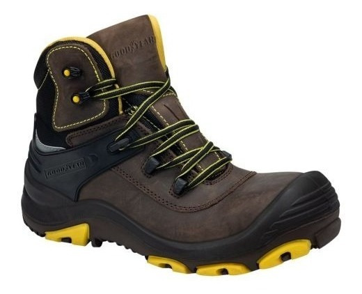 Bota Industrial Goodyear 3160 Id-828104 Casco Cafe Hombre