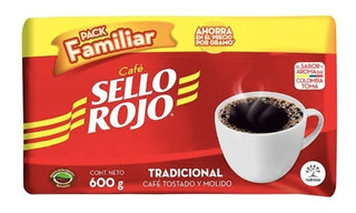 Cafe Colombiano Sello Rojo 600 Gramos