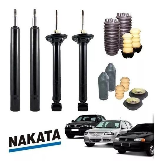Kit Amortecedor 4 Nakata (diant+tras) +kit Gol Bola G2/g3/g4