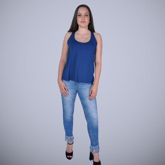 Kit 2 Camisetas Femininas Bata Nadador Cores Basicas Em Viscolycra