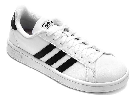 Tênis adidas Grand Court - Unissex - Branco/preto