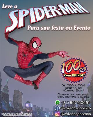 Personagem Vivo Homem Aranha