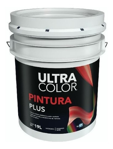 Imagen 1 de 5 de Cubeta De Pintura Vinilica Lavable 19lt Color Blanco