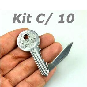 Atacado 10 Mini Canivete Faca Dobrável Chave Camping Revenda