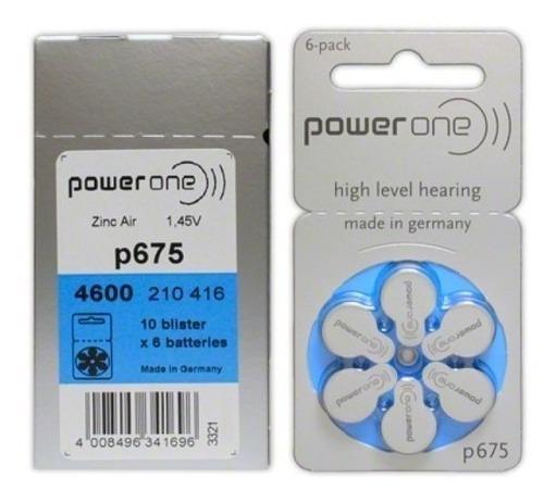 Pila Zinc-air A675 Powerone Caja 60 Pilas