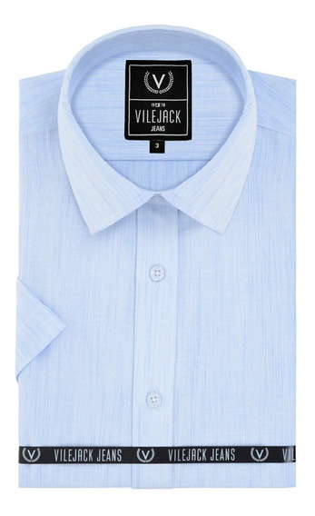 Camisa Masculina Vilejack Mescla S/bolso Mc - Ref. Tc020