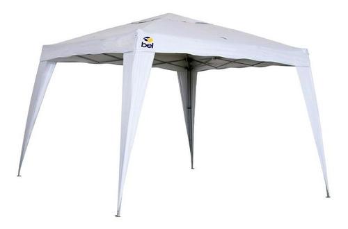 Tenda Gazebo Para Praia Camping Branca Dobrável 3x3m Belfix