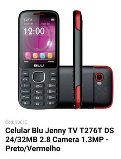 Celular Blu Jenny 32mb / 2g / Dual Sim / Tela 2.8 / Tv