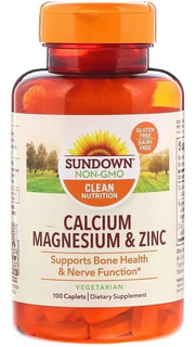 Sundown Naturals, Calcium Magnesium & Zinc, 100 Tablets