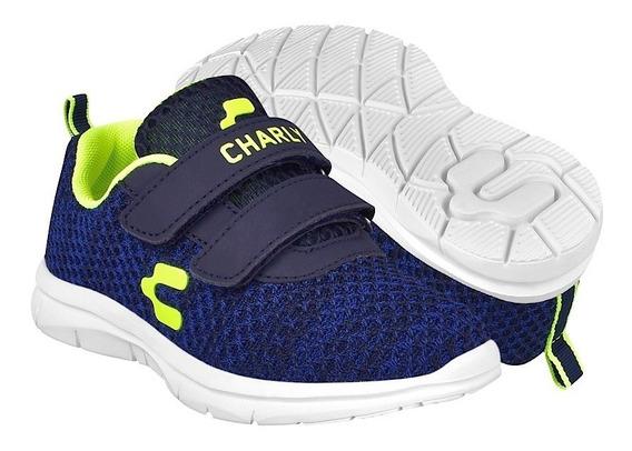 Tenis Casuales Para Niño Charly 1069370 Mno Limón