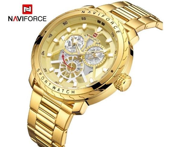 Relógio Masculino Naviforce 9158 Esportivo Lançamento