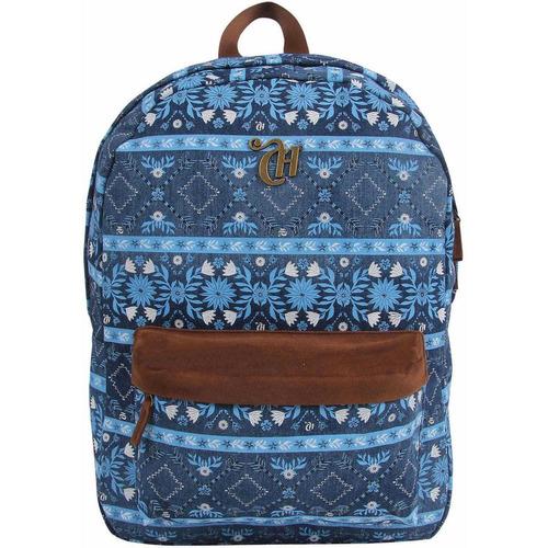 Mochila Escolar Capricho Etnic Blue Dermiwil