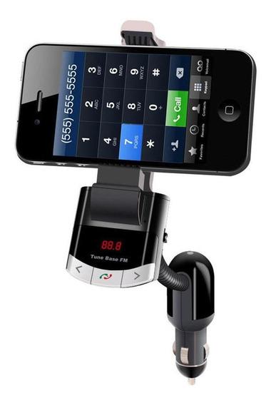 Bluetooth Fm Transmissor Carro Estojo Handsfree Carregador M