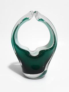 Cenicero Canasta Cristal Moderno Arte Escandinavo Retro