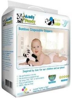 Pañales Desechables De Bambú Ecológico Premium De Andy Pandy
