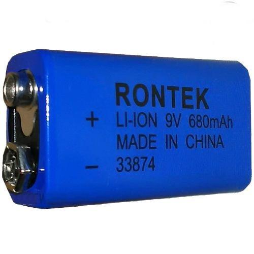 Bateria Recarregável 9v De Litio 680mah Rontek