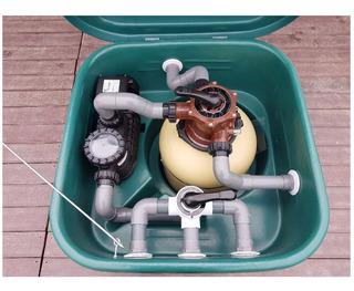 Filtro Gabinete Pileta Vulcano Bomba 3/4hp + Vc30 50000 Litr