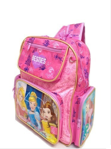 Mochila Grande Costa Princesas Infantil Caderno