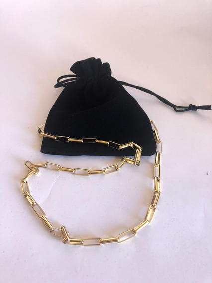 Cordão Corrente Veneziano Tijolinho Banhado Ouro18k