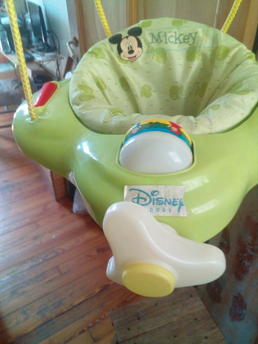 Silla Verde Hamaca Rebote Mickey Disney