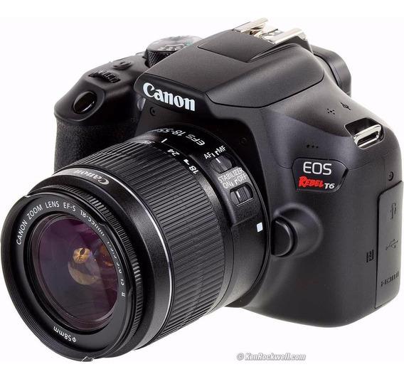 Câmera Eos T6 Canon 18-55mm 50mm 1.8 Stm 16gb Bolsa
