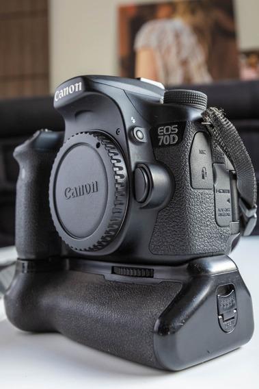 Canon Eos 70d +grip+2 Bat+1 Sd 32gb+frete Gratis 12x S/juros
